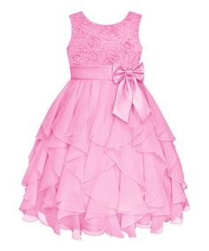 Another great find on #zulily! Ice Pink Rosette Cascade Dress - Girls' Plus by American Princess #zulilyfinds. $29.99