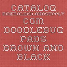 catalog.emeraldislandsupply.com doodlebug pads brown and black