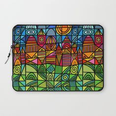 Buy colorful geometric landscape 001 Laptop Sleeve by thewellkeptthing. Worldwide shipping available at Society6.com. Just one of millions of high quality products available.