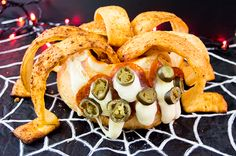 The Starving Chef | Amazing spider leg pizza dip - it's to die for! Happy Halloween!
