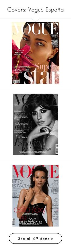 """Covers: Vogue España"" by fashionwidget on Polyvore featuring vogue, penelope cruz, backgrounds, models, cover, magazine, magazine covers, magazine cover, people and pictures"