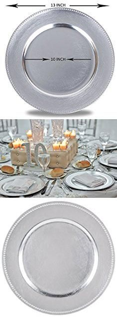 charger plates round charger beaded dinner plates silver 13 inch set of 1