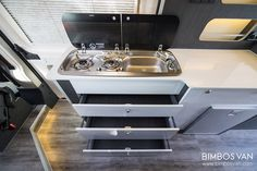 Fiat Ducato Custom Camper by Bimbos Van . A Custom Van Conversion adapted to our customer needs, with 4 seats traveling and sleeping. Ducato Camper, Fiat Ducato, Van Conversion Interior, Camper Conversion, Motorhome, Custom Campers, Complete Bathrooms, Camper Makeover, Camper