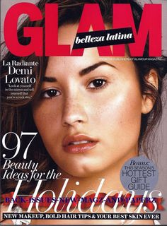 Demi Lovato on the Cover of Glam magazine, an offshoot of Glamour, Holiday 2014 issue.