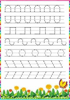 Writing Exercises for Kids Kindergartens Student, Writing Exercises for Kids writing exercises for children's books writing exercises for college students fun writing exercises for college students Tracing Worksheets, Kindergarten Worksheets, Free Worksheets, Kindergarten Writing, Pre Writing, Kids Writing, Teaching Cursive Writing, Writing Center Preschool, Preschool Learning Activities