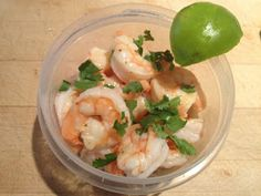 Coconut Cilantro-Lime Shrimp | Advocare 24 Day Challenge Meal Journal