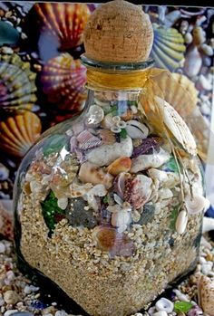 "Beautiful! ""Beach in a Bottle""- could do the same thing with places all over the world"