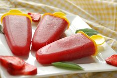 Strawberry Sage Popsicles   21 Delicious Treats That Are Sweetened With Fruit, Not Sugar