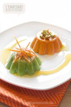 Piccole bavaresi salate da gustare nelle calde giornate d'estate; ideali per un aperitivo tra amici, come antipasto in una cena importante o come contorno.
