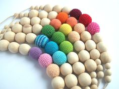 Rainbow kiss Nursing Necklace /choose your by LittleSweetCandyShop