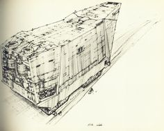 sand crawler sketch (Joe Johnston - concept artist and effects technician on #starwars)