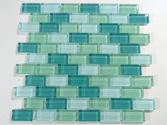 Crystal Glass Polish 1 x 2  Aqua  Green  Blend I LOVE these colors !!