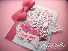 Graciellie Design - Butterfly Gate Card, Embossing, WeRmemory Keepers stamp, Haj Design Digital Paper, Shabby Chic.
