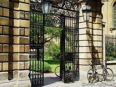 Clare College bicycles, England