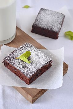 VEGAN DOUBLE CHOCOLATE BROWNIES ( Eggless and fat free)