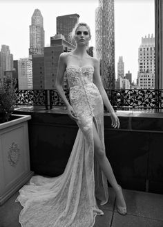 These Inbal Dror wedding dresses are killing it with the old hollywood glam style! We're loving the city-style gowns that radiate with lace and luxury.