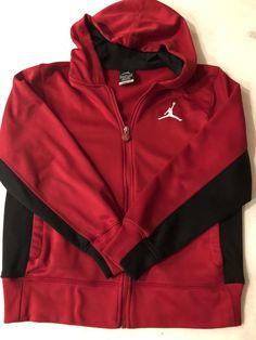 0a675cd370aa77 Nike Air Jordan Therma-fit Youth Boys Full Zip Up Hoodie Size Medium 10-