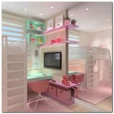 Teen Girl Bedrooms suggestions, from canny to astounding info 9895161265 - more ingenious collections of teen room decor tips and tricks. For more dreamy information please press the pin image at once. Cute Bedroom Ideas, Girl Bedroom Designs, Room Ideas Bedroom, Awesome Bedrooms, Cool Rooms, Bedroom Decor, Bedroom Design For Teen Girls, Bedroom Lighting, Dream Rooms
