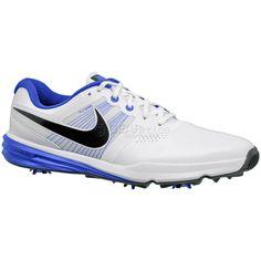 8a0be159e94206 New  150 Nike Lunar Command Mens Golf Shoes Spikes - White   Blue