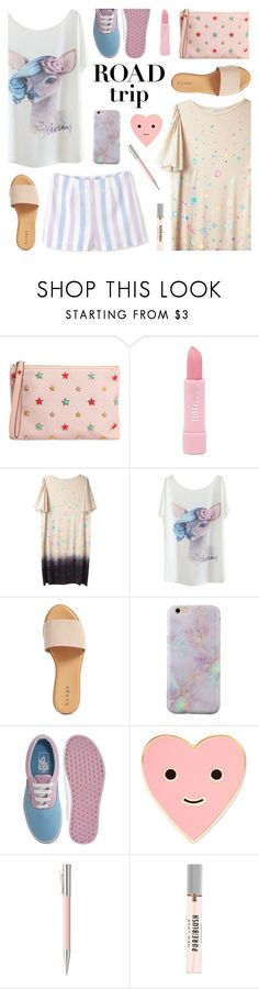 """Rev It Up: Road Trip Style"" by deepwinter ❤ liked on Polyvore featuring RED Valentino, Forever 21, Tsumori Chisato, Hinge, Vans, ban.do, Faber-Castell and roadtrip"
