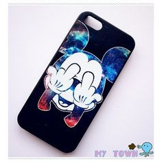 Mickey Galaxy iPhone 5/5S Case featuring polyvore fashion accessories tech accessories phone cases phones iphone cases