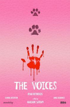 Teaser póster de 'The voices'