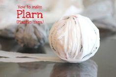 How to make Plarn (Plastic Yarn)