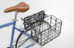 Rear Folding Basket, black