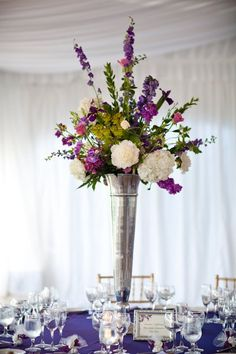 wedding centerpieces- good height and can see other side of table