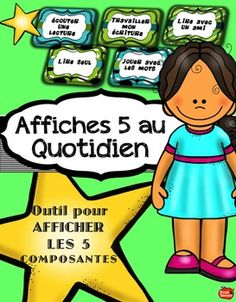 5 au Quotidien : Affiches Daily Five Organization, Lectures, Daily 5, Teacher, Learning, School Stuff, Action, French, Organization