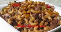 le boeuf et le. Chicken Macaroni Recipe, Macaroni Recipes, Meat Recipes, Pasta Recipes, Macaroni And Cheese, Cooking Recipes, Confort Food, How To Cook Pasta, Pasta Dishes