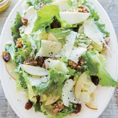 Escarole Salad with Apple, Walnuts, Dates and Manchego