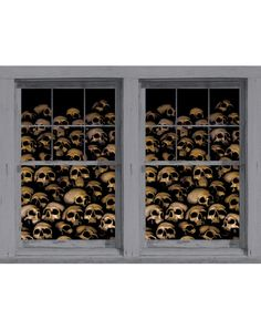 Skull Catacombs Double Window Poster at Spirit Halloween - Make your home look like a creepy place where bones go to rest when you decorate your windows with the Skull Catacombs Double Window Poster. These awesome double window posters feature a plethora of skull graphics. Get yours for $19.99