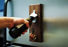 How to Make a Wooden Magnetic Bottle Opener | Man Made DIY | Crafts for Men | Keywords: diy, woodworking, wood, how-to