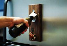 How to Make a Wooden Magnetic Bottle Opener   Man Made DIY   Crafts for Men   Keywords: diy, woodworking, wood, how-to
