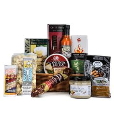 Hot Stuff Gourmet Basket - Gourmet Gift Baskets For All Occasions Fathers Day Baskets, Green Chile Stew, Fennel Pollen, Dried Shrimp, Pretzel Dip, Spice Grinder, Gourmet Gift Baskets, Camping Meals, Simple Pleasures