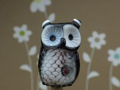 Delilah... lampwork owl bead........ sra by DeniseAnnette on Etsy, $25.00