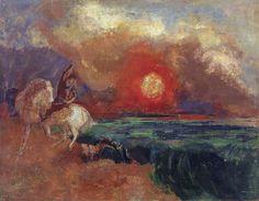 Odilon Redon - Saint George and the Dragon, 1910