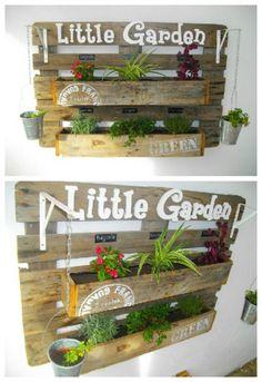 Jardinière en Palette / Pallet Wall Planter