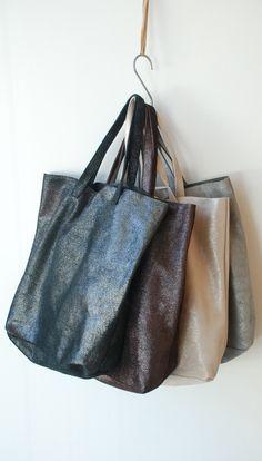 Abejas Boutique - Monserat De Lucca Leather Cava Tote