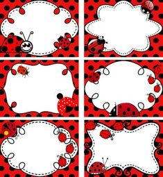 Ladybugs - 12 Labels for Ladybug Lovers! by Homeschool Programs School Border, Disney Decals, Ladybug Art, School Frame, Borders For Paper, Phonics Activities, Activity Centers, Cute Illustration, Projects For Kids