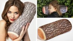 Log-Pillow for Christmas camping gift (see some other ideas for outdoors gifts)