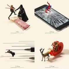 Le directeur artistiquejaponais Tatsuya Tanaka (dont nous avions déjà parlé précédemment) continue à nous divertir avec son projet de photo miniatur
