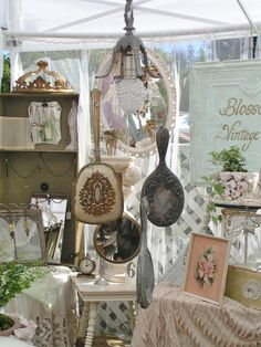 Blossoms Hand Mirror Chandelier Ceiling Hanging, Blossoms, Chandelier, Table Decorations, Mirror, Chic, Furniture, Vintage, Home Decor