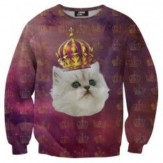 King cat sweater