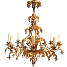 19th Century Historistic Chandelier Gothic Style | From a unique collection of antique and modern chandeliers and pendants  at https://www.1stdibs.com/furniture/lighting/chandeliers-pendant-lights/
