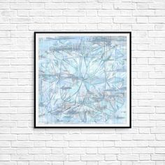 Diamond Jewel Print Winter Mandala Poster Abstract art Modern art Decor Wall art Geometric art Blue White Gray Fragile Line art fancy art Geometric Art, Line Art, Wall Art Decor, Modern Art, Abstract Art, Mandala, Blue And White, Fancy, Jewels