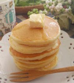 HMよりもふわふわもちもち♡強力粉で作るパンケーキが美味しい♪ Pancakes, Breakfast, Recipes, Food, Morning Coffee, Eten, Recipies, Ripped Recipes, Recipe