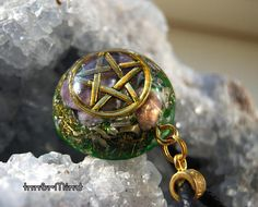 Pentagram with Charoite Orgonite Necklace