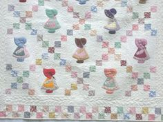 I like the way these sunbonnet sue squares are set on point!